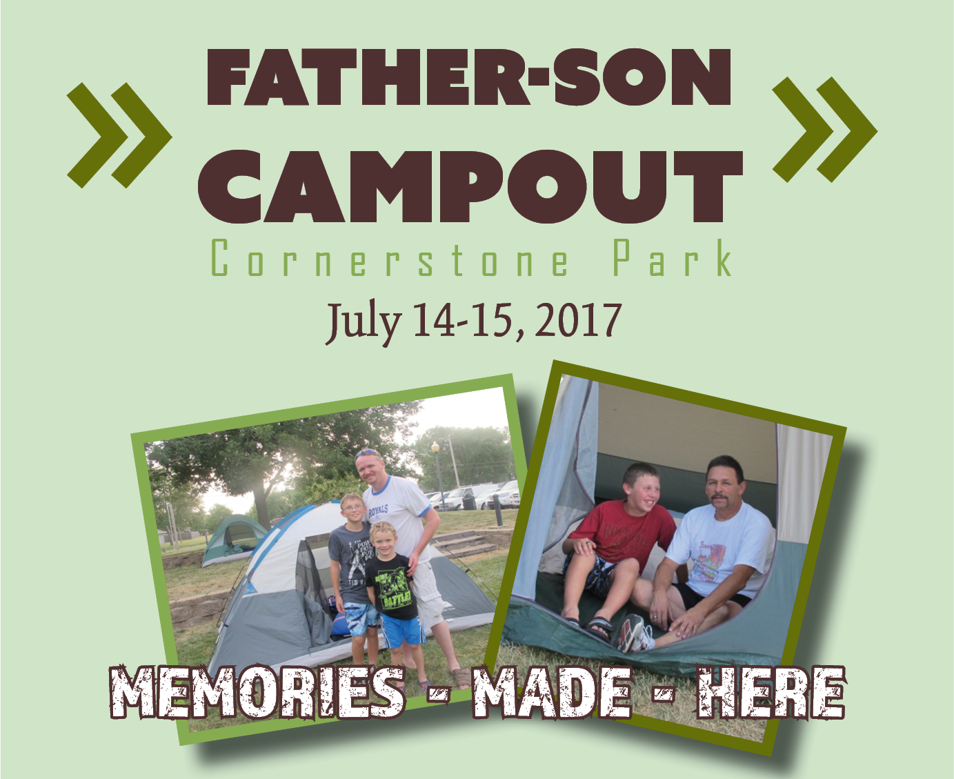 Father Son campout ad for facebook event city web 4.6 in w