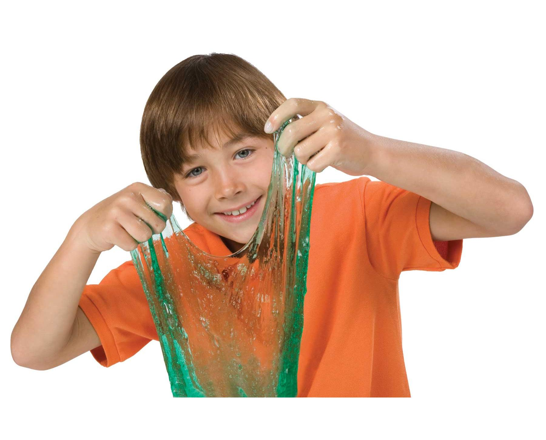 kid with slime