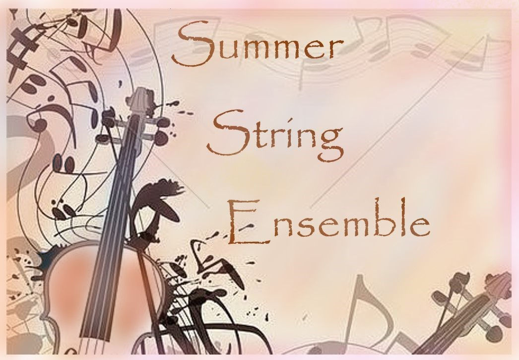summer string camp graphic