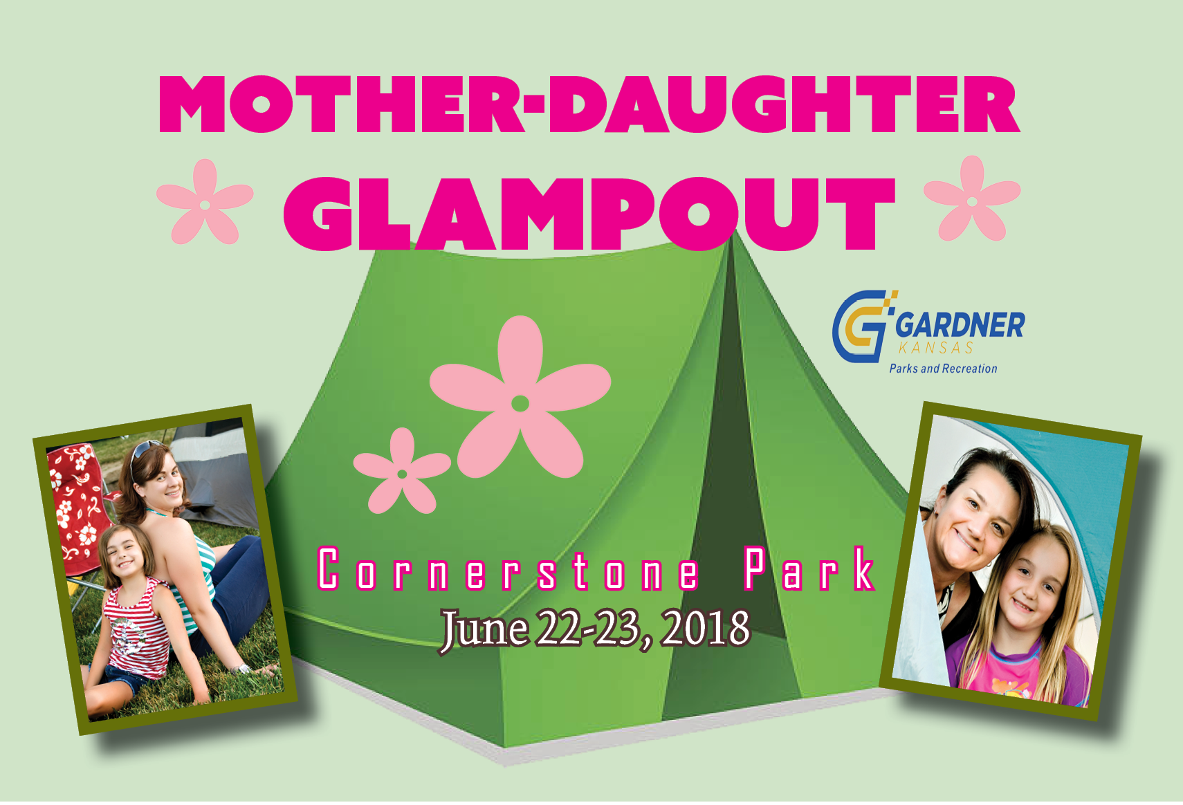 Mother Daughter Glampout graphic for event 051518 fb