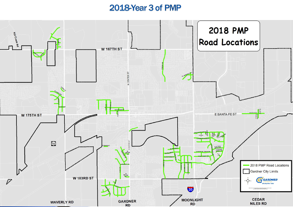 Pavement Management Program Map  2018