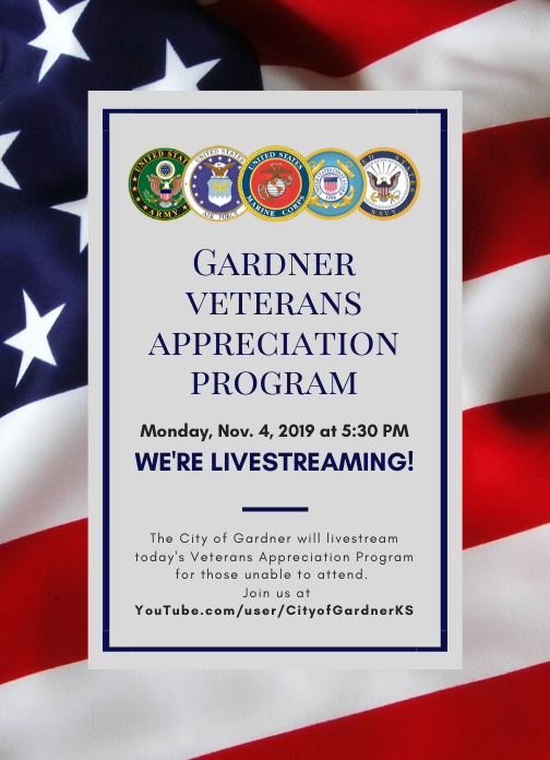 Announcement - Veterans Program Livestream